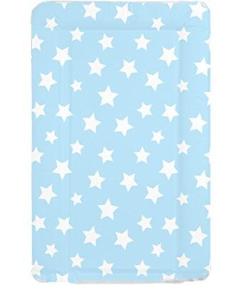 Deluxe Unisex Baby Waterproof Wipeable Changing Mat with Raised Edges - Blue