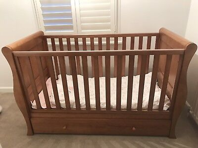 Cot bed - Sleigh Bed - Brown - John Lewis