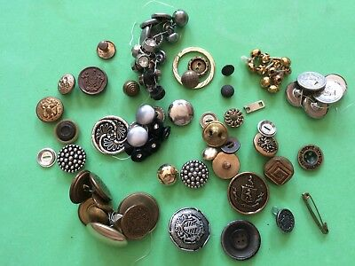 Vtg. METAL BUTTON LOT~Sewing~Quilting~Scrapbooking~Jewelry Making~Mixed Lot