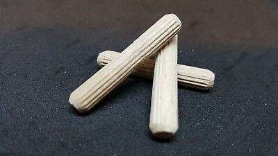 WOODEN DOWEL Pins Hardwood Fluted Beech Wood 8MM