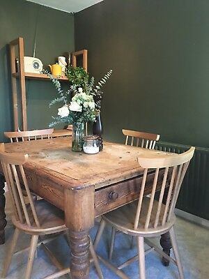 Kitchen Dining Table, Rustic, Farmhouse, Pine