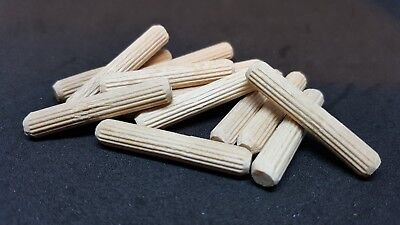 WOODEN DOWEL Pins Hardwood Fluted Beech Wood 6MM