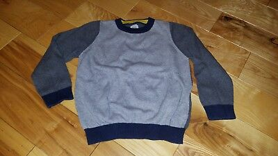 Mini Boden Boy's Gray Colorblock Sweater, Cotton/Cashmere, Size 6-7 Years