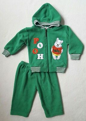 Vintage Winnie The Pooh Baby Sweatsuit Kelly Green St. Patricks Day 24 Months