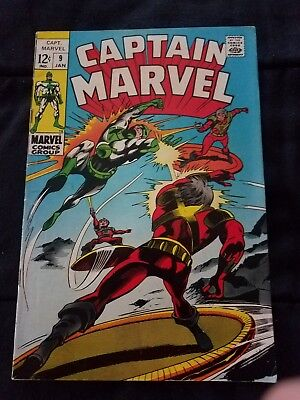 Captain Marvel #9 Marvel Comics 1968 Premiere issue