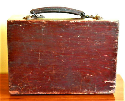 House Clearence. Antique British Large Victorian? Wooden Box , Beautiful, Marked