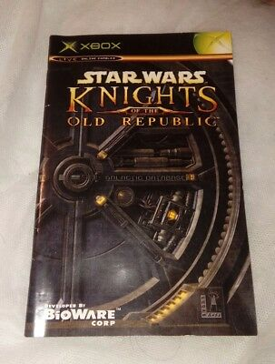 Star Wars: Knights of the old republic INSTRUCTION MANUAL ONLY Xbox