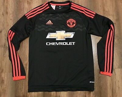 Manchester United Adidas 2015-16 Third Long Sleeve Shirt Jersey 15-16 Years