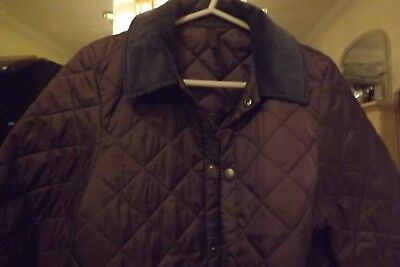 Boys Navy Barbour Jacket Perfect Harly Worn Large