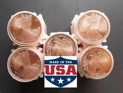 100 Ounces Of Copper Coins 1 oz Each Walking Liberty Bullion Rounds 100 ROUNDS