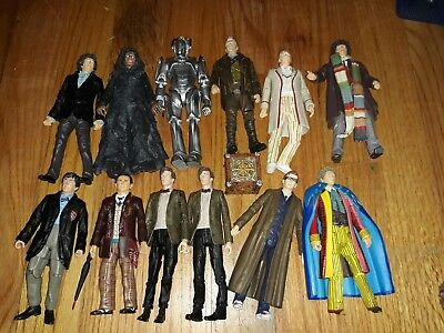 Doctor WHO Action Figure Lot 2nd 4th 5th 6th 7th 9th 10th War Master Cyberman