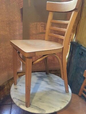 23 restaurant blond wood chairs, lot, used