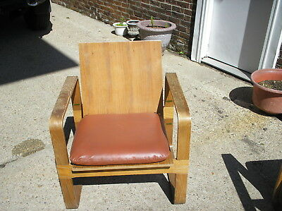 Beautiful Vintage Eames Era Danish Moder Mid Cerntury Thonet Lounge Chair