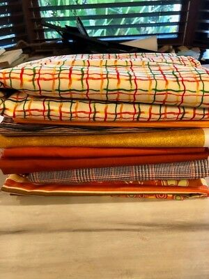 Fabric Lot - Variety of colors and patterns - over 12 yards of fabric