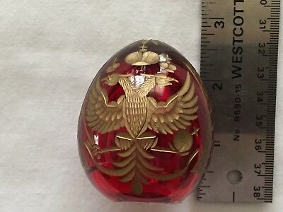 Russian St. Petersburg Egg Ruby Red