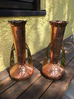 Paar Jugendstil Vasen / Pair of Art Nouveau / Art Deco Vases by BING Germany