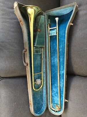 Conn Director Model Trombone With Hard Case And Mouthpiece