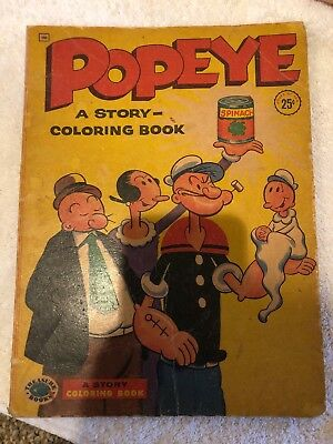 Popeye Coloring Book