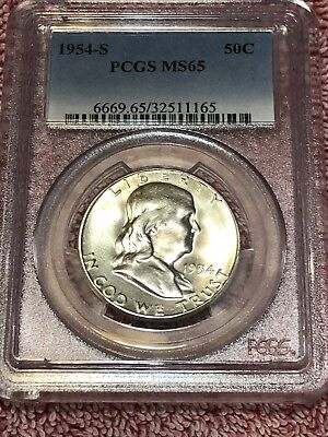 1954-S PCGS  Franklin Half Dollar NGC MS 65