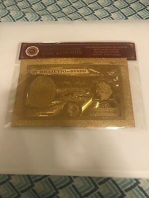 Italy 25 Lira Gold Plated Note