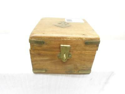 Vintage Nautical Ships Brass Compass. in Crafted Wooden Box. I-0325-JBC-W02