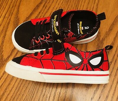 New Little Boys Spiderman Sneakers Size 9 New Nwob