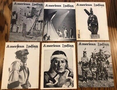 American Indian Crafts and Culture Magazines Lot 6 issues from 1972-1974