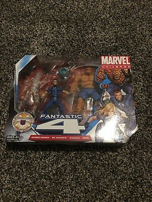 MARVEL UNIVERSE FANTASTIC 4 VARIANT INVISIBLE WOMAN ACTION FIGURES 3 PACK 34-7