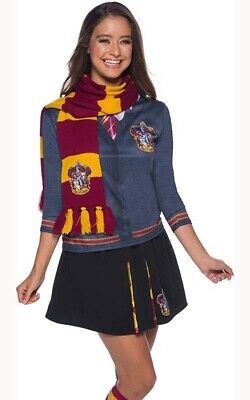 Licensed Gryffindor Hermione Deluxe Harry Potter Scarf Book Week Costume