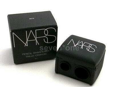 NARS DOUBLE PENCIL SHARPENER Lip Brow Eye Liner Cosmetic Makeup Tool BLACK NIB