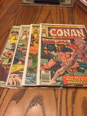 Conan The Barbarian Comics Lot If 4 55, 58, 60, 63. Near Mint