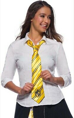 Licensed Hufflepuff Harry Potter Tie Book Week Costume Accessory
