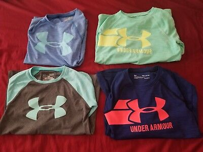Girls Under Armour Small (YSM) Clothes Lot! Shirts, Hoodie, Shorts & Pants!