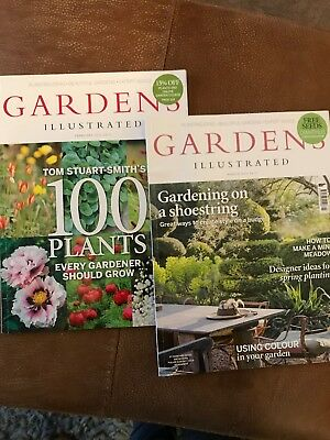 GARDENS ILLUSTRATED magazines - February  2016 and March 2026 Issues 231 & 232