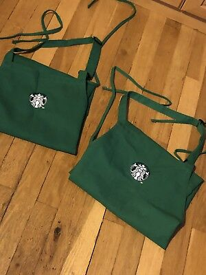 Starbucks Green Barista Aprons with Siren on Front/ 2 APRONS