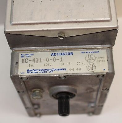 MC-431-0-0-1  BARBER COLEMAN OIL SUBMERGED ACTUATOR 120v  USED