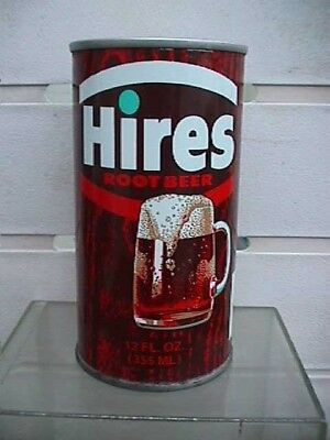 VINTAGE Hires Root Beer tin can  Seymour Indiana  EXC condition`