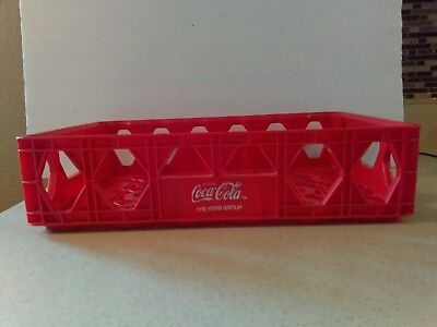 """Coca-Cola Red Plastic Soda Case Carrier 4.5"""" X 18 X 12""""  The Herb Group"""