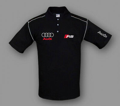 Audi RS Polo Shirt New Sport Embroidered Apparel, Size S-XXXL