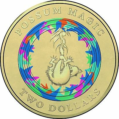 1 x 2017 $2 Dollar Coin - Possum Magic - Invisible Hush, Unc from Mint Bag. #1