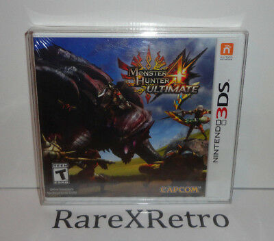 Monster Hunter 4 Ultimate (Nintendo 3DS, 2015) New Factory Sealed 3DS Y-Fold