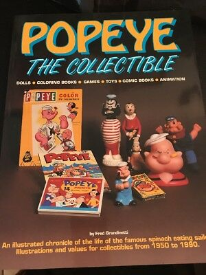 Popeye The Collectible By Fred Grandinetti-Amazing History,Pictures, Information