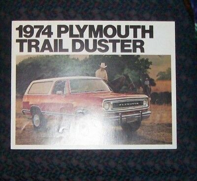 1974 Plymouth Trail Duster Sales Brochure