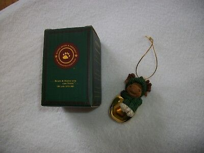 2004 Boyds Bears & Friends Moose Bell Ornament Christmas Decoration