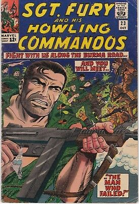 Sgt. Fury and his Howling Commandos #23 1965 Silver Age Marvel Comic.