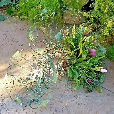 Antique Style Large Metal Wire Hanging Open Basket Garden Planter Set of 3
