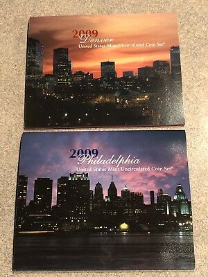 2009 US Mint Uncirculated 18 Coin Sets BOTH D & P (36 Total Coins)