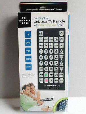 The Sharper Image Jumbo Sized Tv Universal Remote Control Glow In