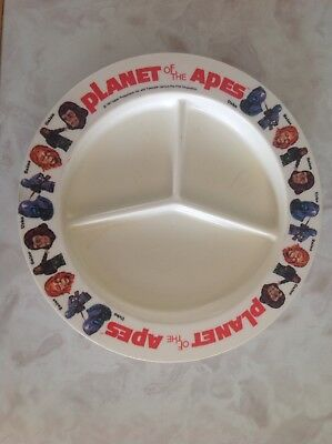 Planet Of The Apes Deka Compartment Plate.. 1974 1975 TV series  Rare  Vintage
