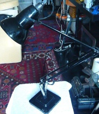 Anglepoise early 1227 2 Step Rolled edge Black - Working